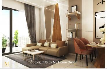Thiết kế và thi công căn hộ 2 phòng ngủ Millenium chị Tú
