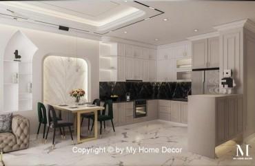 Thi công thiết kế nội thất căn hộ Celesta Rise phong cách tân cổ điển sang trọng