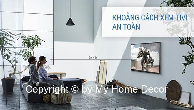 Khoảng cách xem tivi hợp lý và an toàn cho người xem