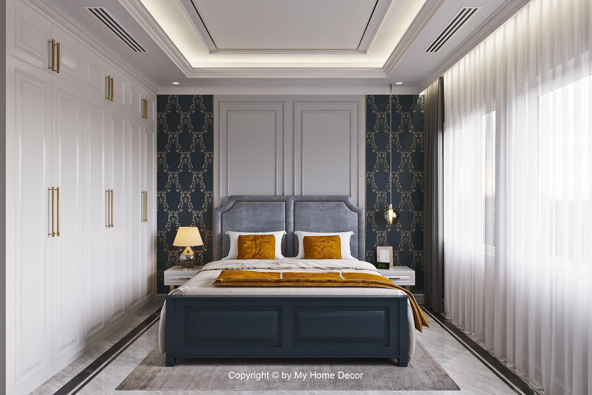 Thiết kế nội thất phối cảnh phòng ngủ.