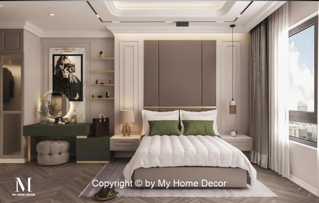 Thiết kế nội thất phòng ngủ Master căn hộ Vinhomes Grand Park